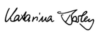 Katarina Barley - Image: Katarina Barley signature