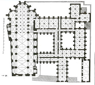 Katharineum - First floor plan of St. Cathrine's monastery in 1832
