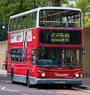 London Buses route 65 - Transdev London Alexander ALX400 bodied Dennis Trident 2 in Kew in May 2010