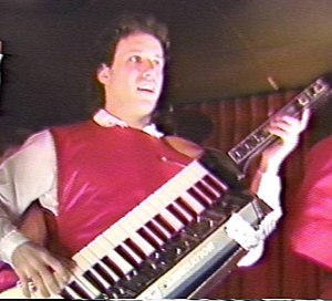 Keytar - Keytarjeff on his Moog Liberation 1983