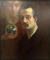 Khalil Gibran - Autorretrato con musa (1911).jpg