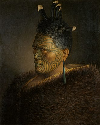 Tāwhiao - King Tawhiao as depicted by the artist Gottfried Lindauer in 1885