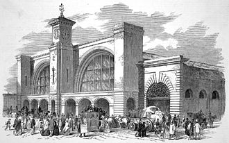 Midland Railway - An illustration of King's Cross from 1852, shortly before its use by the Midland Railway
