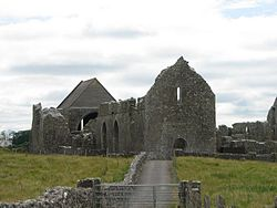 Ruins of the 12th century Cistercian Knockmoy Abbey