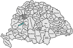 Location of Komárom