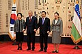 Korea-Uzbekistan summit in Seoul, Feb 2010 (4350756636).jpg