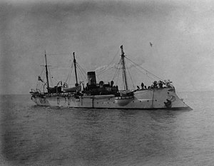 Russian gunboat Korietz - Korietz in Chemulpo Bay, February 1904.