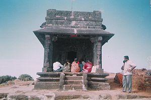 Kodachadri - Front view of Mantapa or Sarvajnapeetha at Kodachadri