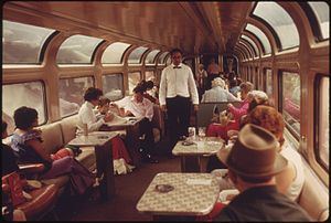 LOUNGE CAR OF THE SOUTHWEST LIMITED, AN AMTRAK...