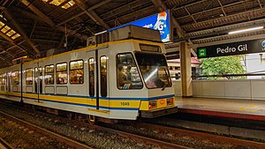 LRT1 1G (1000 class) train at Pedro Gil station.jpg