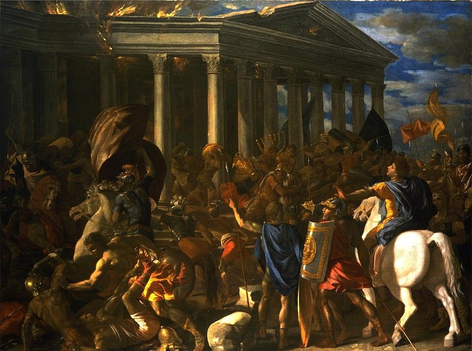 La Destruction du temple de Jérusalem - Nicolas Poussin - Israel Museum