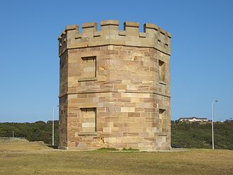 La Perouse's 19th century Customs tower, used to combat smugglers La Perouse 1.JPG