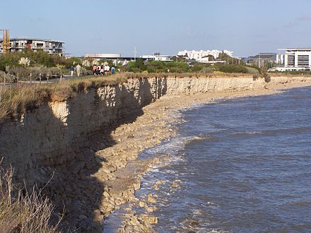 Chalk cliffs to the north and south of La Rochelle date from the Late Jurassic.