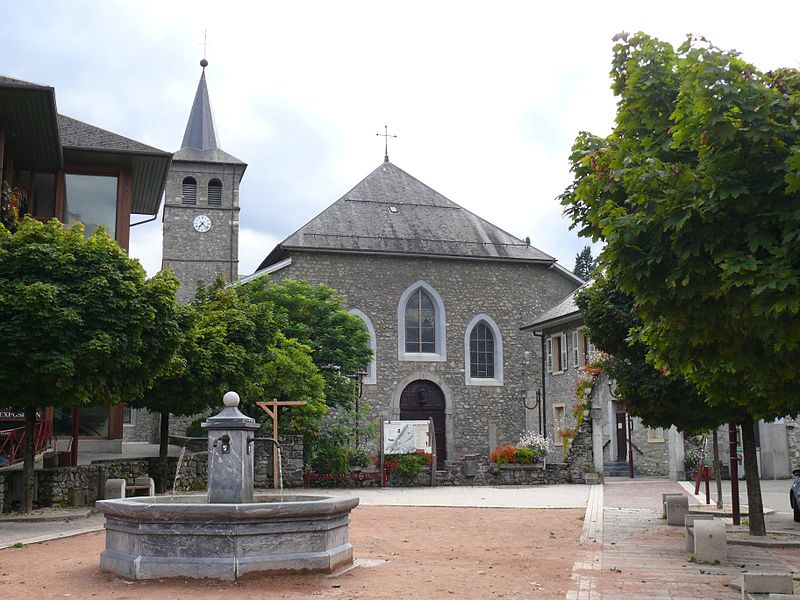 Saint-John-the-Baptist's church of La Rochette (Savoie, Rhône-Alpes, France).