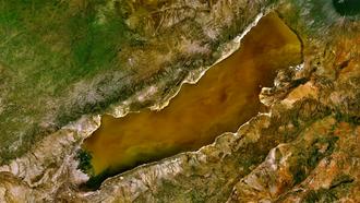 Lake Eyasi - A screenshot of Lake Eyasi taken from World Wind.