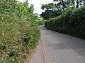 Lane from Newbuildings towards Sandford - geograph.org.uk - 1393642.jpg