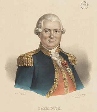 Jean-François de Galaup, comte de Lapérouse - Jean-François de Galaup, comte de Lapérouse, lithograph c.1835, by Antoine Maurin, State Library of New South Wales
