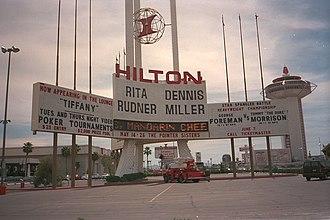 Westgate Las Vegas Resort & Casino - Las Vegas Hilton marquee in 1993