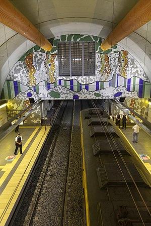 Las Heras (Buenos Aires Underground) - Image: Las Heras 3