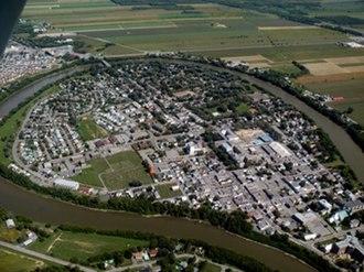 L'Assomption River - The large meander of the L'Assomption River at the Town of L'Assomption
