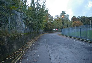 Crystal Palace circuit - A stretch of the circuit, seen in 2005