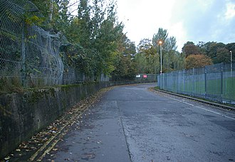 Crystal Palace circuit - A stretch of the circuit, seen in 2005 (this part was used as the start/finish straight up until 1960)