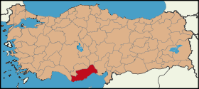 Latrans-Turkey location Mersin.svg