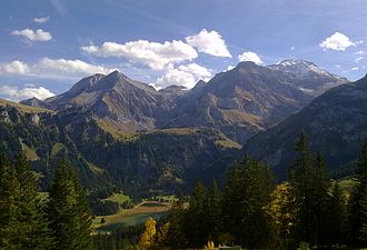 Wildhorn - The Wildhorn from the Lauenen valley