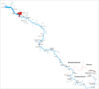 German map of the River Elbe.