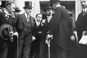 Treaty of Lausanne - Turkish delegation at the Treaty of Lausanne. The delegation was led by İsmet İnönü (in the middle)