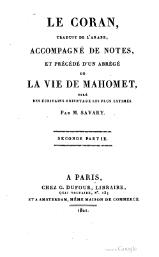 Le Coran - Traduction de Savary, volume 2, 1821.djvu