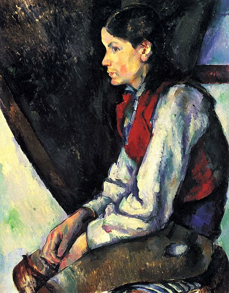 Fichier:Le Garçon au gilet rouge, par Paul Cézanne, Museum of Modern Art.jpg
