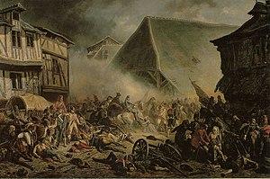 Virée de Galerne - La bataille du Mans La bataille du Mans, peinture de Jean Sorieul, 1852. Musée de la Reine Bérengère, Le Mans.