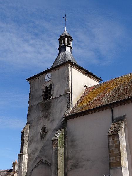 Church Saint-Hippolyte, Le Veurdre, Allier, France
