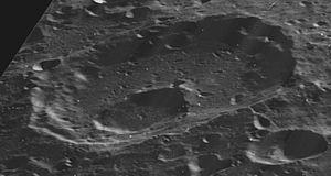 Lemaître (crater) - Oblique Lunar Orbiter 5 view