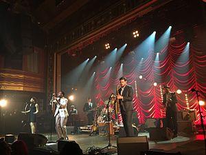 Leon Bridges - Leon Bridges and his band at Webster Hall, 21 October 2015