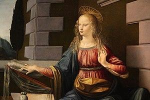 Annunciation (Leonardo) - Image: Leonardo da Vinci Annunciazione (dettaglio)
