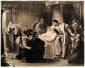 Leonardo da Vinci on his deathbed, at Cloux in 1519, with Fr Wellcome V0006948.jpg