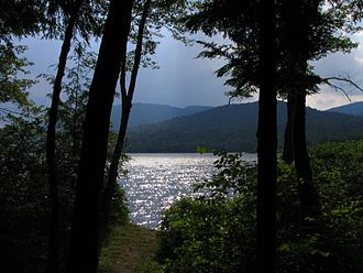 Indian Lake, New York - View from a campsite at Lewey Lake (near Indian Lake)
