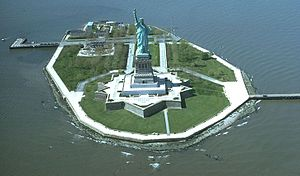 Liberty Island - Liberty Island and the Statue of Liberty