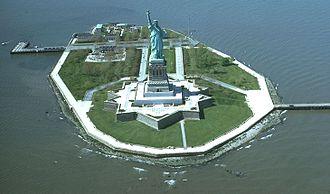 Liberty Island - Liberty Island and the Statue of Liberty