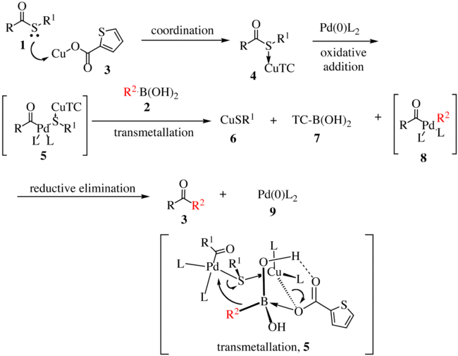 The Liebeskind–Srogl coupling mechanism
