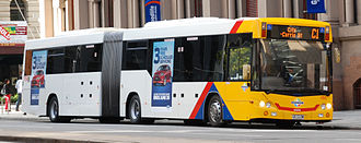 Light-City Buses - Custom Coaches bodied Scania K320UA on Currie Street in June 2014