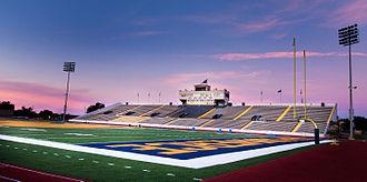 Memorial Stadium (Texas A&M–Commerce) - Image: Lion Football Ariel Rawlings 3 (14649295656)