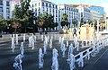 Lisbon, Largo Martim Moniz, fountains.JPG