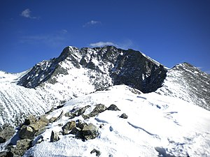 Little Bear Peak - Image: Little Bear Peak from southwest ridge, Feb 2012