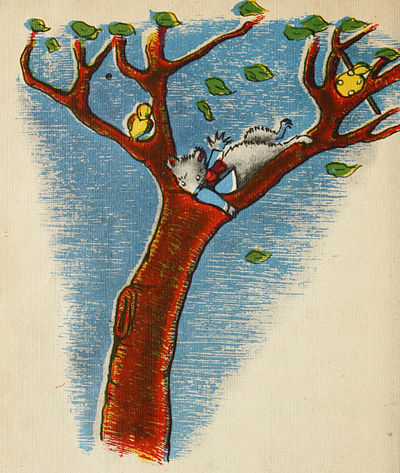 The mouse on the tree