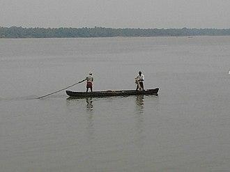 Bharathappuzha - Local fishermen in Bharathapuhza