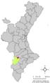 Localització de Beneixama respecte el País Valencià.png