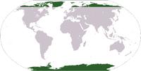 สีเขียว: ถิ่นอาศัย (North Island, New Zealand)